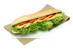 Mézes mustáros csirkés bagett szendvics