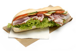 Sonkás-Sajtos bagett szendvics