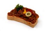 Ajvár krémes party szendvics