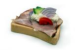 Füstölt főtt tarjás party szendvics