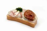 Hús salátás party szendvics