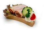 Pulykamell sonkás party szendvics