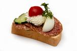 Téliszalámis party szendvics